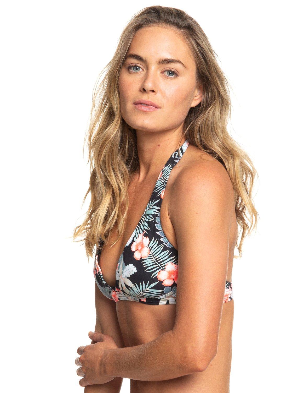 0db6b5161c2 1 Beach Classics - Halter Bikini Top for Women Black ERJX303842 Roxy