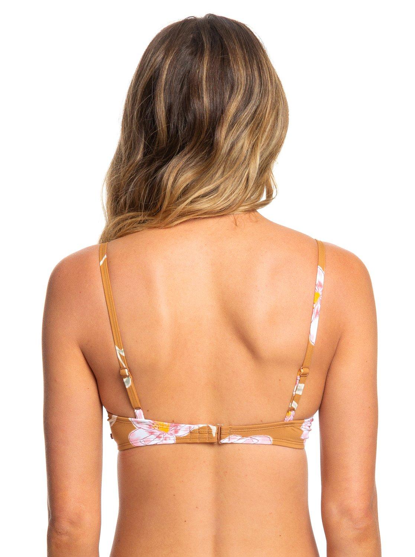 22f7ce8b1d267c 3 Printed Beach Classics Underwired Bra Bikini Top Brown ERJX303968 Roxy