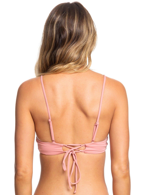 f8627809351 3 Beach Classics - Athletic Tri Bikini Top Pink ERJX304059 Roxy