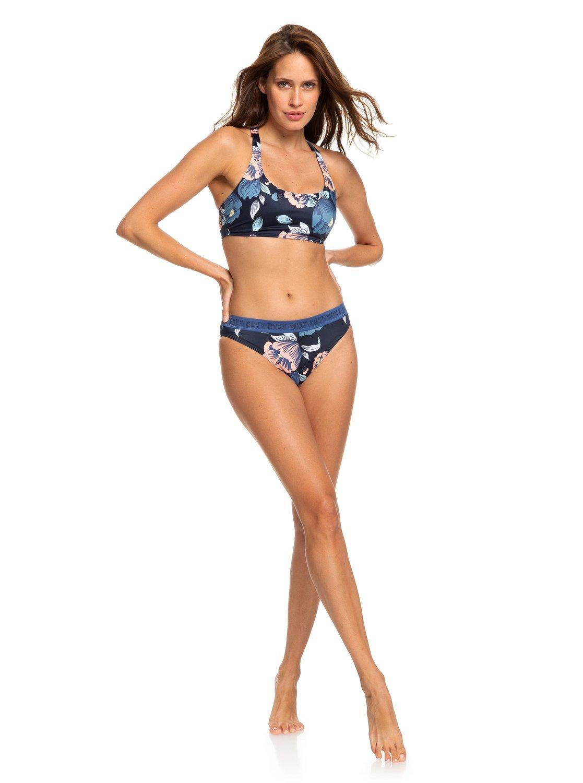f776bddf63 1 ROXY Fitness - Bas de bikini couvrance maxi pour Femme Bleu ERJX403693  Roxy