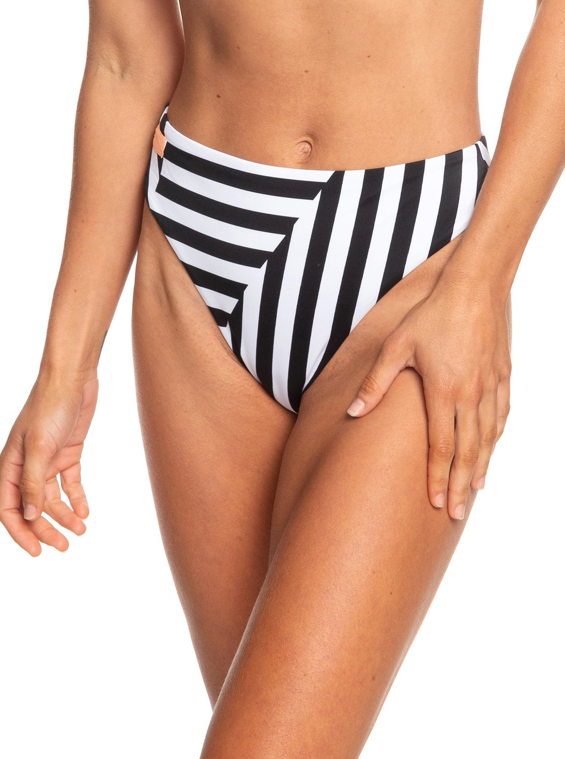 057d04e0e6887 0 POP Surf High Leg Bikini Bottoms White ERJX403710 Roxy
