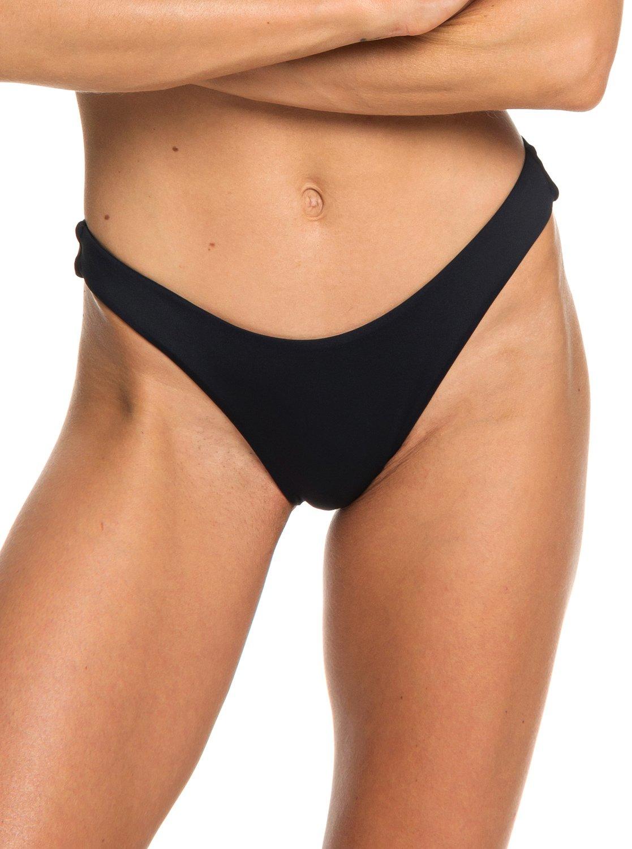 edf10277cfcc 0 Beach Classics High Leg Bikini Bottoms Black ERJX403716 Roxy