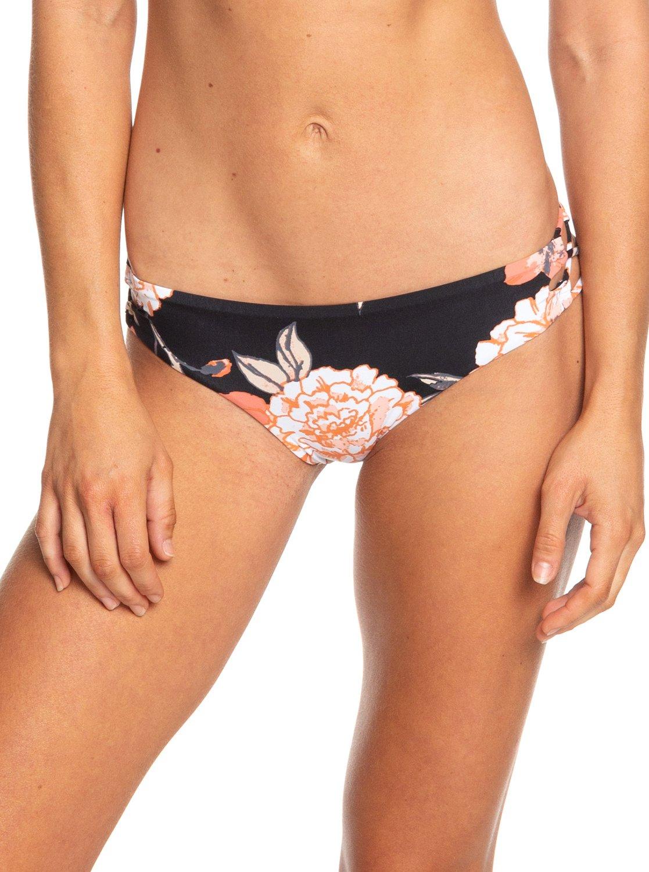 e9b542e7919f6 0 Beach Classics Full Bikini Bottoms Black ERJX403754 Roxy