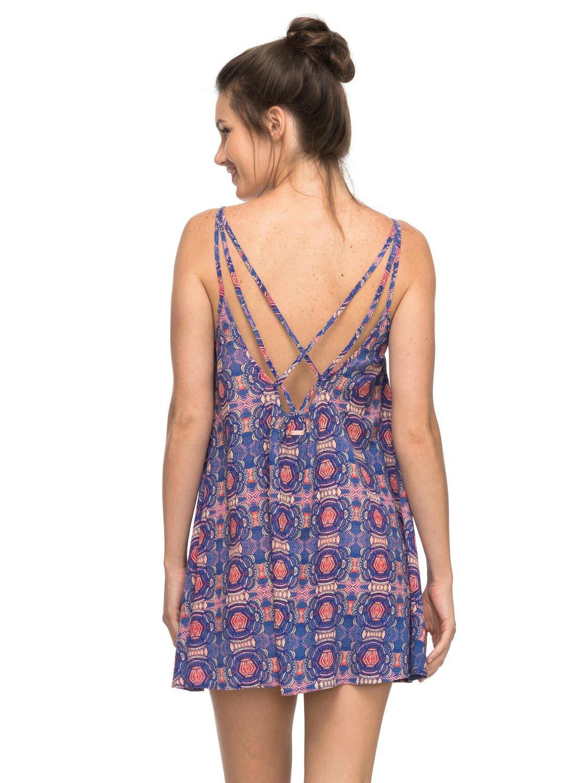 01145ea4c2b 1 Пляжное платье Windy Fly Away Фиолетовый ERJX603068 Roxy