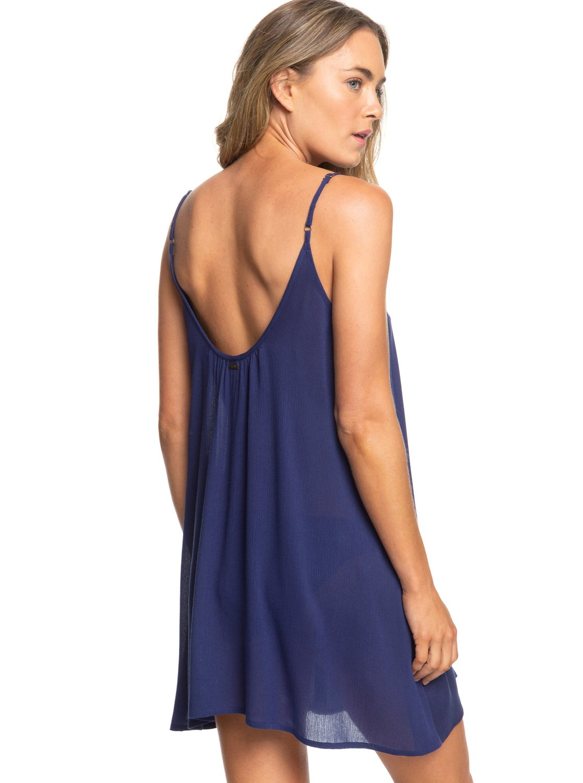 5a3b9f8c9c47a 4 Softly Love - Vestido de Tiras para Mujer Azul ERJX603122 Roxy