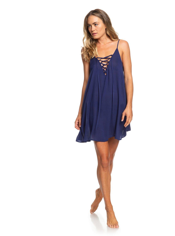 ddadf7d8a9a73 3 Softly Love - Vestido de Tiras para Mujer Azul ERJX603122 Roxy