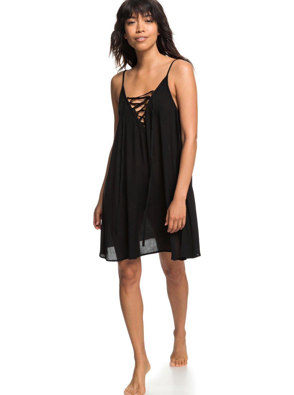 cb1f803727 2 Softly Love Strappy Dress Black ERJX603122 Roxy