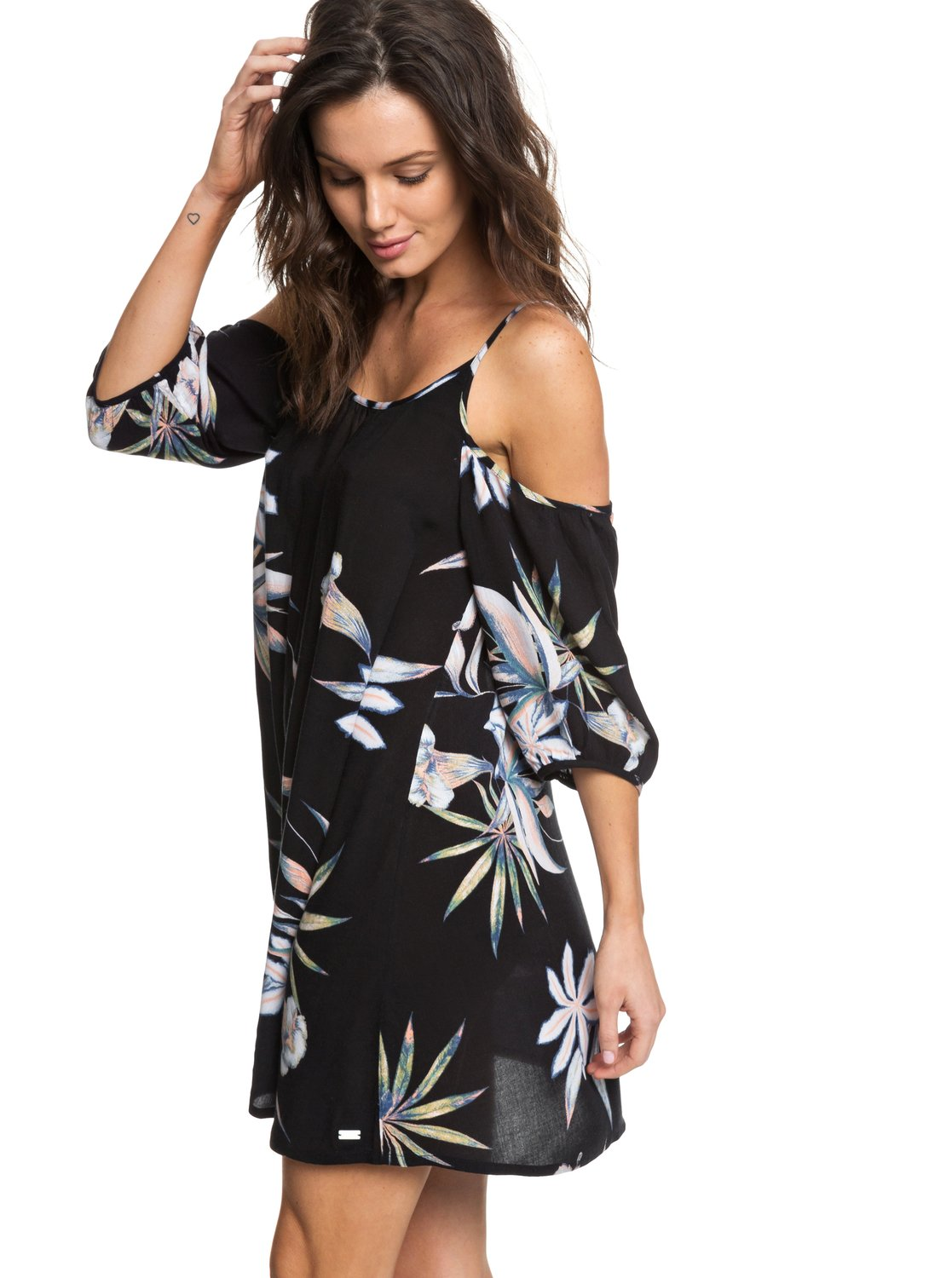 14a4ffec39 Roxy™ Baliana - Short Sleeve Beach Dress - Women - S - Black