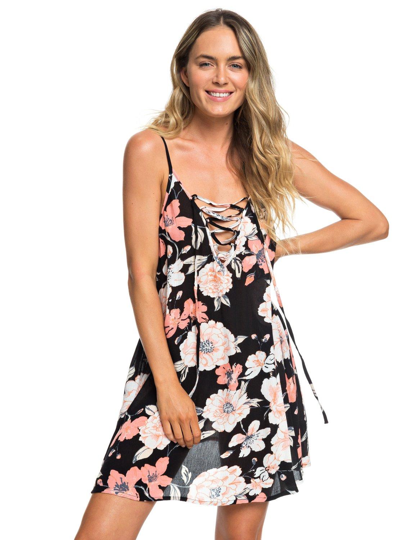 d102c935a9a8 0 Softly Love Strappy Beach Dress Black ERJX603138 Roxy