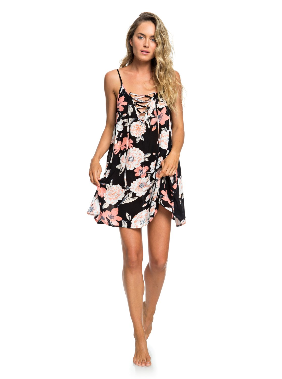 f8a881d877 3 Softly Love Strappy Beach Dress Black ERJX603138 Roxy