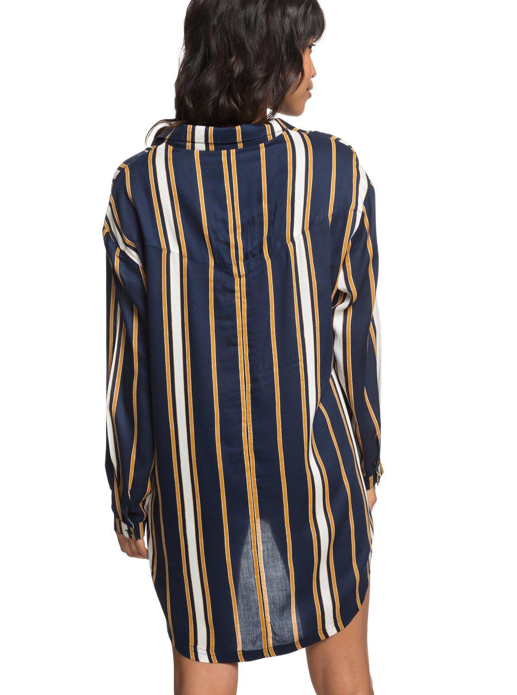 fc781716bf7bb 4 Lonely For You - Vestido Camisero de Manga Larga para Mujer Azul  ERJX603139 Roxy