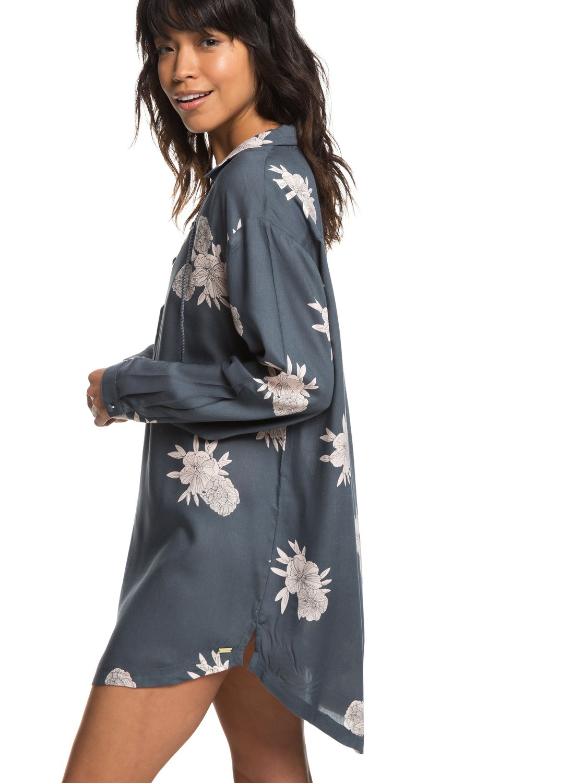00f58b6036 0 Lonely For You - Long Sleeve Shirt Dress for Women Black ERJX603139 Roxy