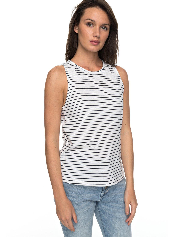 fbaf9110814478 0 Just Simple Stripe Sleeveless Tee ERJZT04018 Roxy