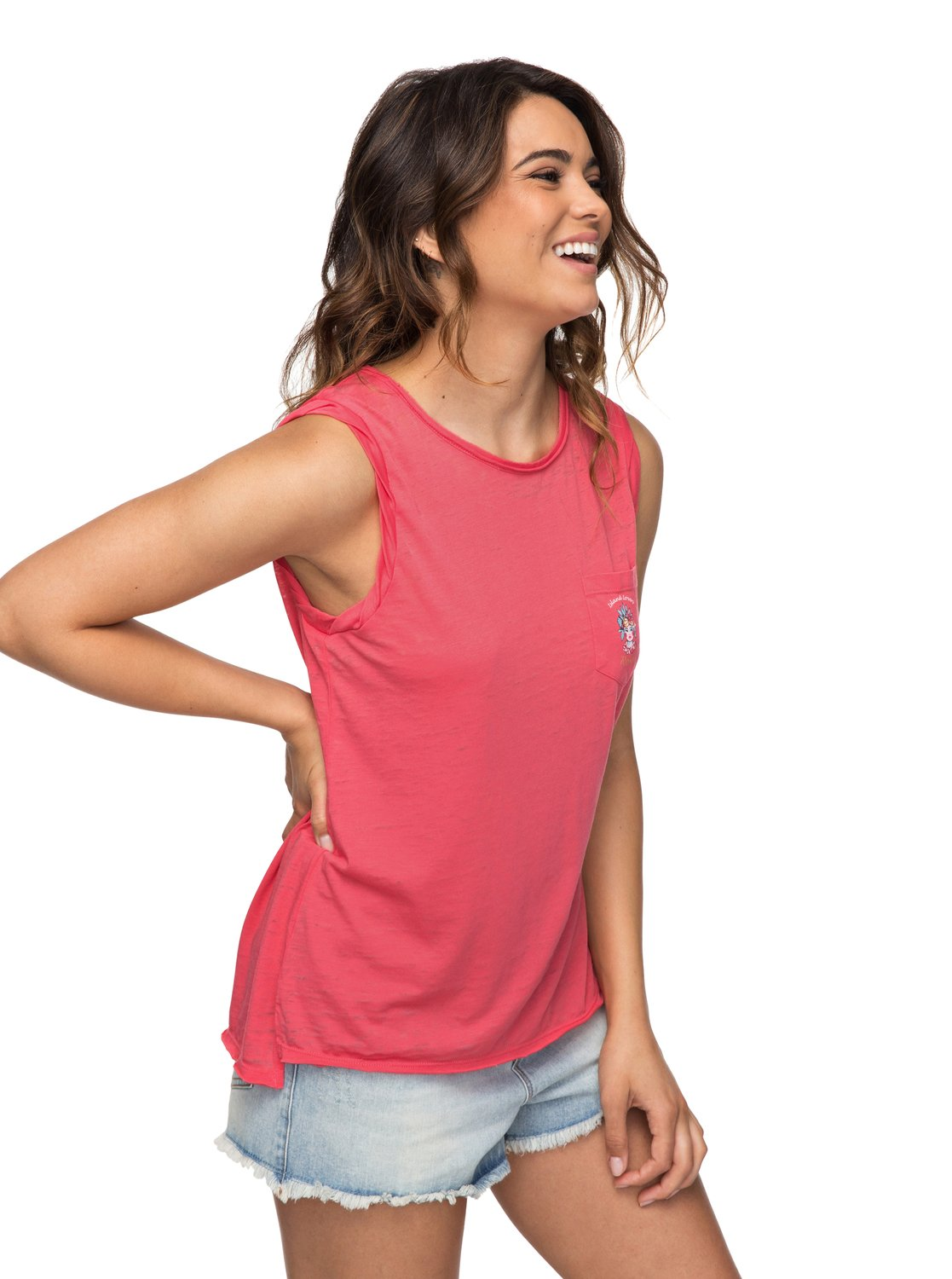 b3a0f5da425f5e 1 Time For Another Day A - Sleeveless T-Shirt for Women ERJZT04156 Roxy