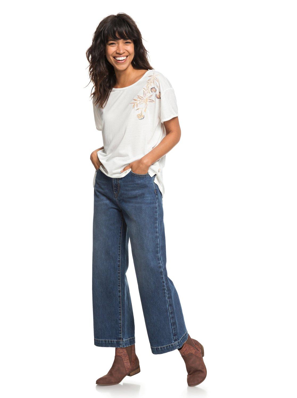 Roxy-Cruz-Life-B-Camiseta-para-Mujer-ERJZT04382 miniatura 7