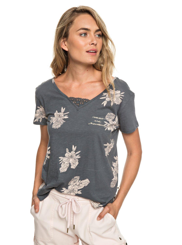 a047f958a0d5 0 Beach Summer Party - Short Sleeve Top for Women Black ERJZT04507 Roxy