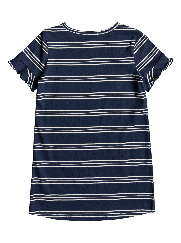 c1e144fa 1 Girl's 2-6 Second Sun Short Sleeve T-Shirt Dress Blue ERLKD03064 Roxy