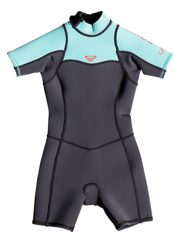 1e4569442 2 2mm Syncro Series - Short Sleeve Back Zip FLT Springsuit for Girls ...
