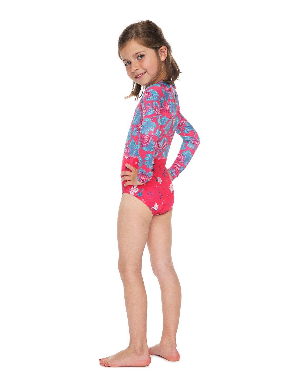 eed312820cd94 ROXY Mermaid - Long Sleeve One-Piece UPF 50 Rashguard for Girls 2-7 ...