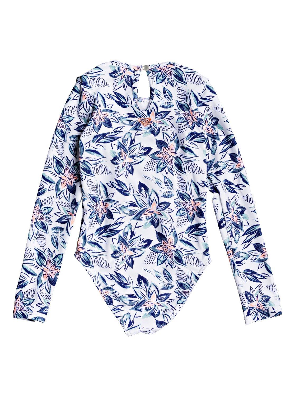 500acfc1d6714 1 Girl's 2-6 Magic Seeker Long Sleeve UPF 50 One-Piece Swimsuit White