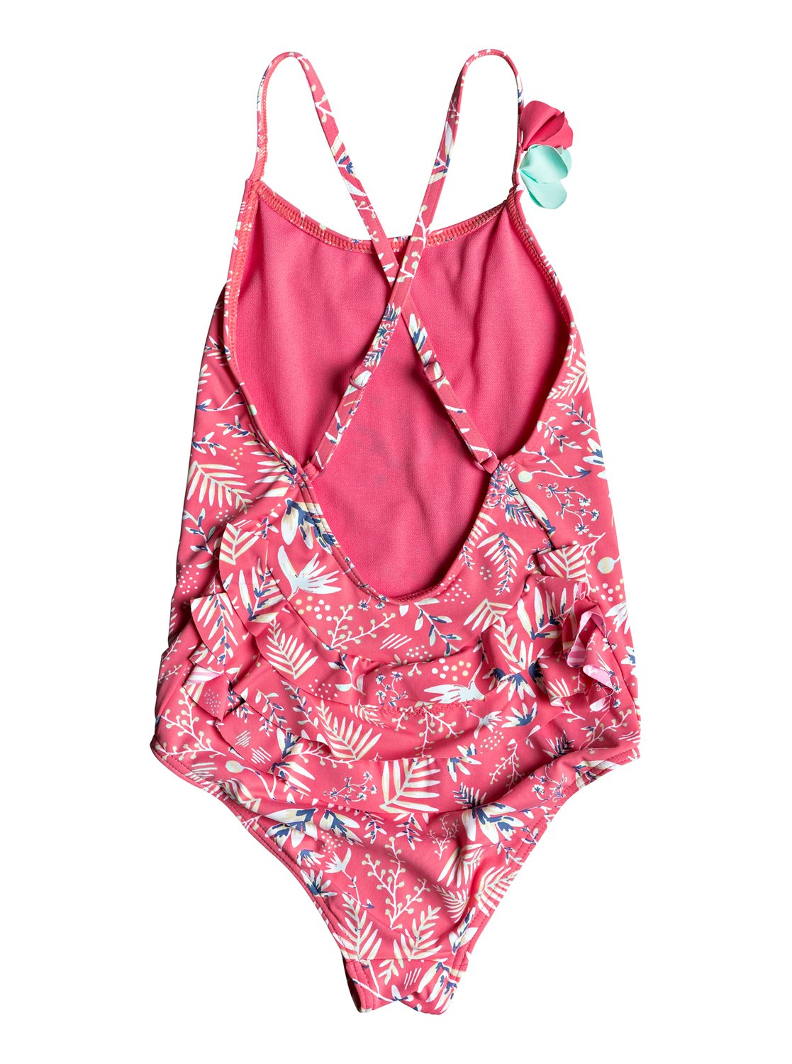 80b5b748016d2 1 Girl's 2-6 Bali Dance One-Piece Swimsuit Pink ERLX103033 Roxy