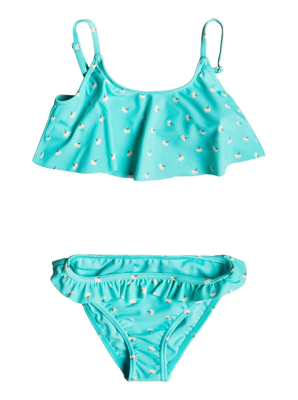 b1b35cb5e63e 0 Girl's 2-6 Baby Saguaro Flutter Bikini Set Blue ERLX203054 Roxy