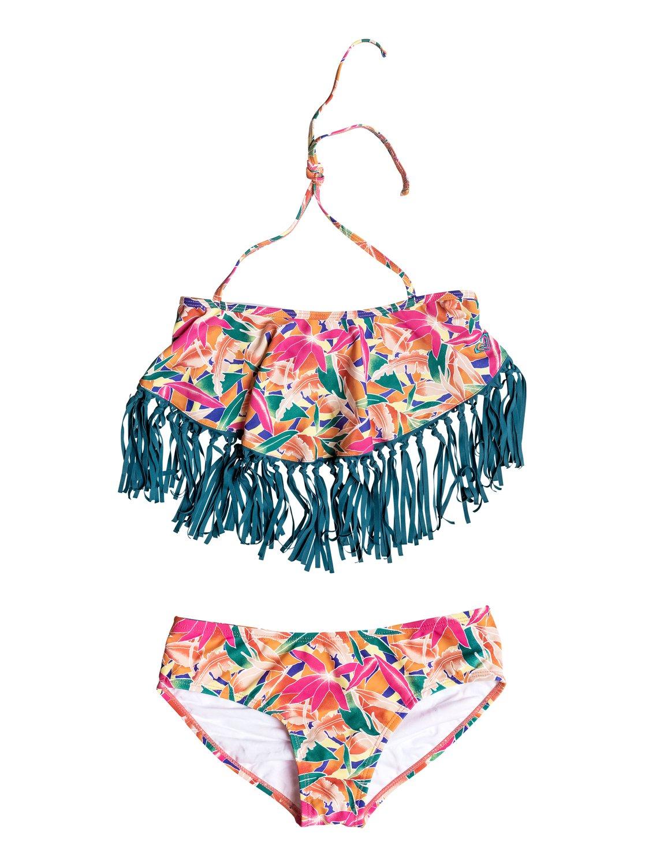 fb3682caaef80 0 Girl's 7-14 Boho Island Bandana Bikini Set PGRS68877 Roxy