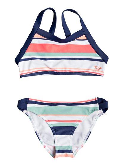 Happy Spring - Crop Top Bikini Set for Girls 8-16  ERGX203195