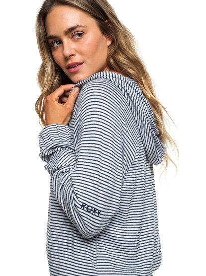 Cloudy Skies Stripe - Zip-Up Hoodie for Women  ERJKT03535