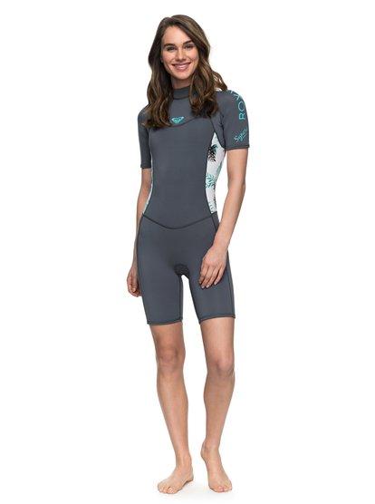 2/2mm Syncro Series - Short Sleeve Back Zip FLT Springsuit for Women  ERJW503007