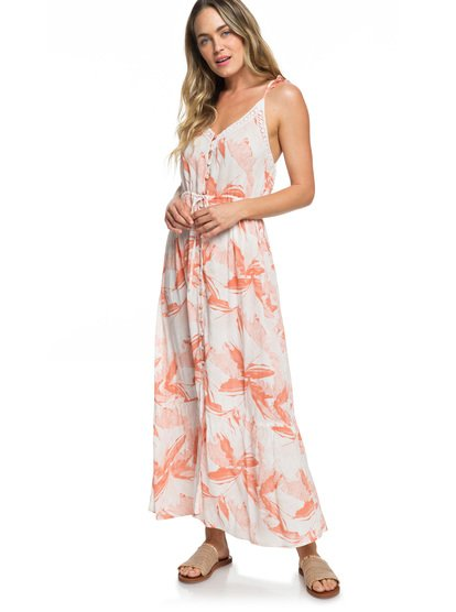 8f17e8b146a Hot Summer Lands Button-Through Strappy Maxi Dress ERJWD03337 | Roxy