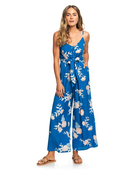 Wheel And Palms - Strappy Wide-Leg Jumpsuit  ERJWD03338