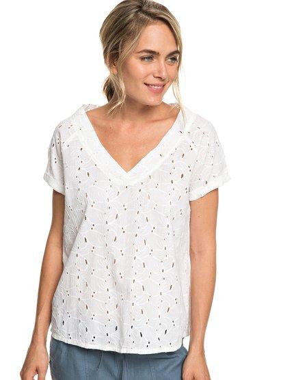 Union Square Flower - Short Sleeve Top for Women  ERJWT03290