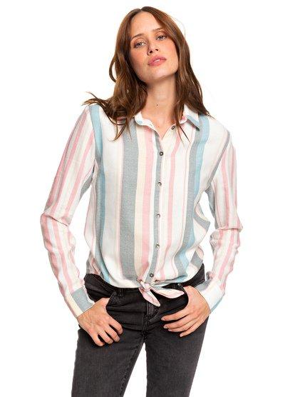 Suburb Vibes - Long Sleeve Tie-Front Shirt  ERJWT03343