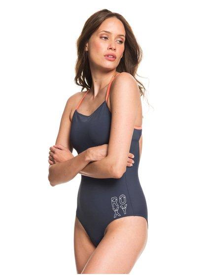 7d8c6360f5 0 ROXY Fitness - One-Piece Swimsuit Blue ERJX103197 Roxy