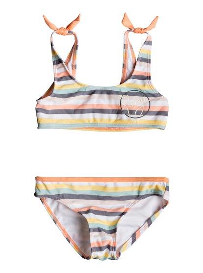 Girl Lets Go Surfing - Sports Bra Bikini Set for Girls 2-7  ERLX203071