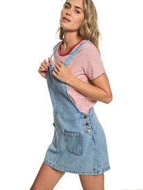 518ace7b8c5 Love To Travel - Denim Dungaree Dress for Women ERJWD03319