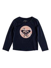 4b66224a42c0a Never Ages Trellis Logo - Long Sleeve T-Shirt for Girls 2-7 ERLZT03142