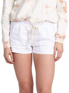 31ce18daeb5b8 ... Oceanside - Linen Beach Shorts for Women ARJNS03007 ...