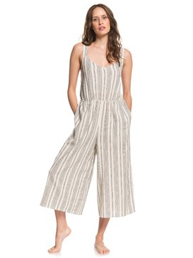 Take Care - Cropped Wide Leg Strappy Jumpsuit  ARJWD03249