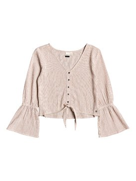 My Girl - Tie-Front Long Sleeve Blouse  ARJWT03184