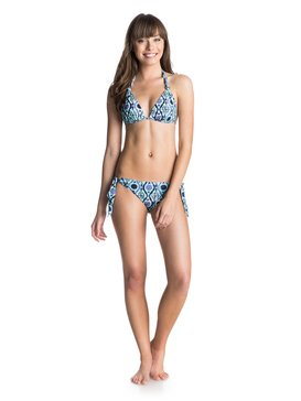 Knotted Halter & Knotted 70S Set - Triangle Top & Tie Side Bikini Bottoms  ARJX203083