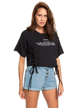 PARADISE LACE UP CROPPED CREW  ARJZT05203