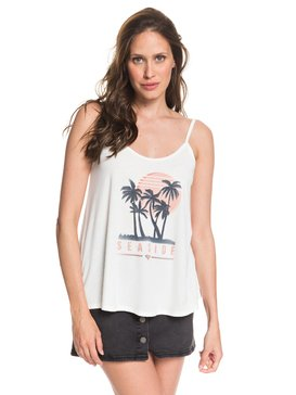 SEASIDE PALM STRAPPY TANK  ARJZT05397