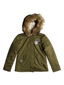 Feel The Sun - Military Hooded Parka for Girls 8-16  ERGJK03058