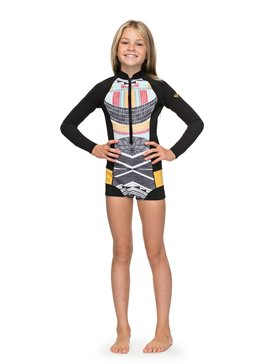 1mm POP Surf - Long Sleeve Front Zip Springsuit for Girls 8-16  ERGW403005