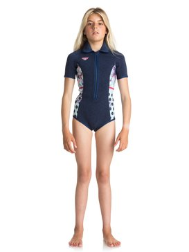 2mm POP Surf - Short Sleeve Front Zip Springsuit for Girls 8-16  ERGW503007