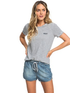 Music Never Stop - Denim Beach Shorts for Women  ERJDS03152