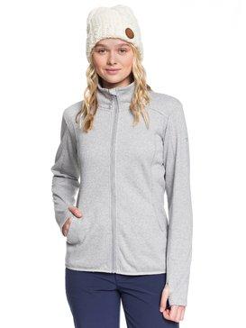 Harmony Shimmer - Zip-Up Mock Neck Fleece  ERJFT03962