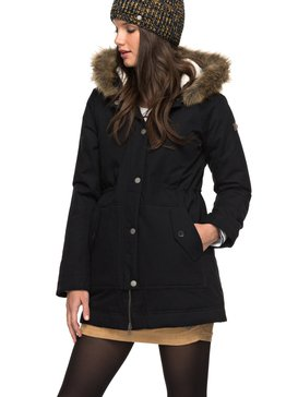 Mountain Song - Longline Hooded Jacket with Faux-Fur for Women  ERJJK03195